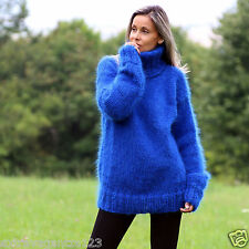 89ab5e9abc98dc Designer Hand Knitted Mohair Sweater Fuzzy Blue Jumper Pullover by  EXTRAVAGANTZA