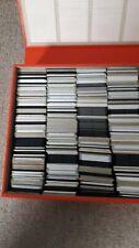 More details for 1960's vintage red vinyl covered slide case plus three hundred 35mm slides