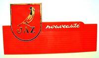 Vintage publicité montre JAZ plaque plastique vitrine watch salon diver watch