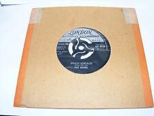 "Pat   Boone   Speedy   Gonzales    /    The    Locket    1962   7""  Inch  Vinyl"