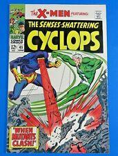 UNCANNY X-MEN #45 SILVER AGE COMIC BOOK 1968 ~ VF
