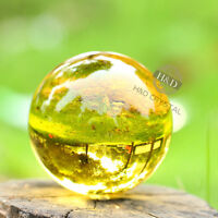H&D 40MM+Stand Natural yellow Obsidian Sphere Crystal Ball Healing Stone Gifts