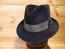 Vtg 50's German Velour Fedora Trilby Hat Omega EU 57 UK 7 US 7 1/8