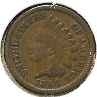 1864 Bronze 1C Indian Cent (60742)