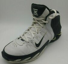 Size 8 M- Nike Shox Lethal TB White Black (311739-101)