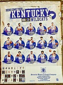 2021-2022 UK University of Kentucky Wildcats Men's Basketball Poster & Schedule