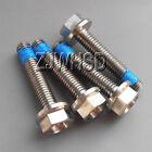 4pcs M5 x 25 mm Titanium Ti Screw Bolt Hexagon Hex Head Flange + Thread Loker
