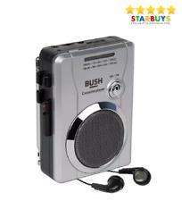 More details for bush retro personal cassette tape player  recorder am/fm radio built-in speaker