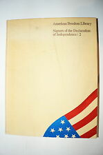 Us Signers of the Declaration of Independence 2 Reference Book