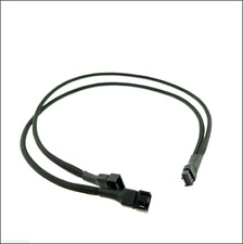 4 pin Fan to 2 ways Y Splitter 25cm Case Sleeved Extension Cable Water Cooling