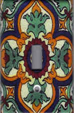 MEXICAN TALAVERA TILE IMAGE - MEXICAN TILE HOME WALL DECOR LIGHT SWITCH PLATE