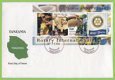 Tanzania 2005 Rotary International mini sheet on First Day Cover