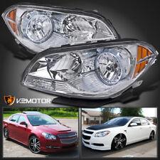 2008-2012 Chevy Malibu Sedan Crystal Replacement Headlights Left+Right