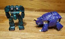 Vintage 80s Go Bots Rock Lords Action Figures Lot 2 bandi G1