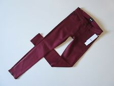 NWT HUDSON Nico Super Skinny in Mystic Amber Maroon Coated Stretch Jeans 25