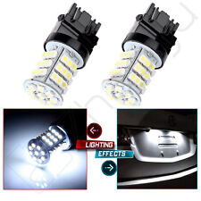 2pcs 45SMD 3156 3356 LED Brake Turn Signal Tail Reverse Backup Light Bulbs White