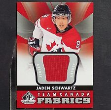 JADEN SCHWARTZ  ROOKIE  2012-13 SP Game Used Authentic Fabrics Team Canada #TC22
