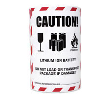 Caution Lithium Ion Battery Sticker Labels Transport Package Warning 4