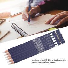 6pcs Tortillon Sketching White Blending Smudge Stump Pen Pencil Art Drawing Tool