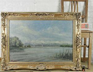 PETER MOHR * 1905 ÖLGEMÄLDE ANTIK PARTIE AM STARNBERGER SEE Lake Starnberg Sea