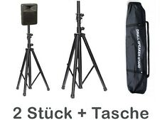 PA DJ Speaker Stands 2 x Speaker Stands Tripod Stand for Speakers + Bag