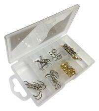 Sea Fishing Treble Hooks, Swivels, snaps  & Rig Rings in Tackle Box 167043