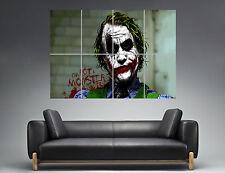 THE JOKER BATMAN CÓMICS IM NO UN MONSTER Wall Cartel Grande formato A0 Print