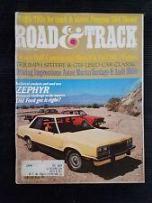 Stradale & Pista Settembre 1977 Mercury Zephyr - Ford Fairmont - Pontiac Grand