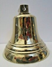 Vintage JAPAN 1973 Marine Brass BELL -Great Sounding - Nautical/ Boat (3)