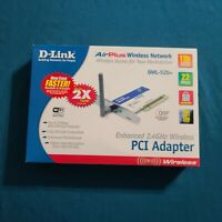 D-Link AirPlus Wireless PCI Adapter DWL-520+ opened box - unopened card