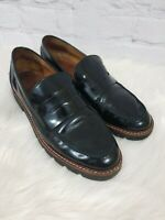 Coach Black Penny Loafers Leather Shoes Sz 6.5 NICE Slip On Womens