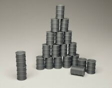 (20) - 55 Gallon Drum Barrels (Gray) HO Scale Lot Walthers Herpa Promotex Wiking