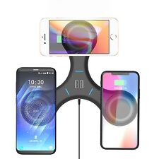 Triple Qi Wireless Charger Stand 3X Phones Wireless Charger Pad For Multi Phones