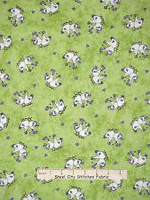 Chicken Fabric - Farm Rooster Hen Toss Green Riverwoods Farm Doodles - Yard