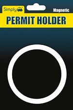 Plain Black Fully Magnetic Parking Permit Holder to Fit All Cars Windscreens