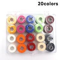 20Spools Bobbins Sewing Machine Bobbin Case Organizer Storage Colorful/Clear Box