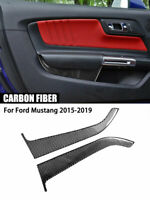 Kohlefaser Türverkleidung dekorative Verkleidung für Ford Mustang MKVI 2015-19