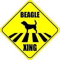 """BEAGLE XING CROSSING ROAD SIGN 5"""" DOG SILHOUETTE STICKER"""