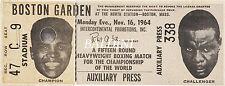 Muhammad Ali V Sonny Liston - Rare Vintage Boxing Ticket Print - Get Yours Now