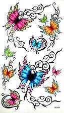 Beautiful Muti-colour Butterflies Temporary Tattoos #HM308 New Arrival!
