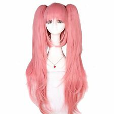 Dangan-Ronpa Junko Enoshima Love Pink Long Straight Cosplay Wig ZY41B USA Ship