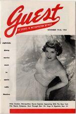 Guest, Events at Metropolitan Detroit, Nov 19-25 54 Hilde Gueden, Met Star photo