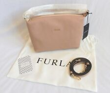 New Authentic Furla Sophie XL Removable Strap Crossbody Bag Moonstone Pink