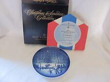 Bing & Grondahl blue white plate Christmas in America Rockefeller 1st 1988 NIB