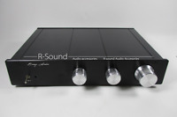 Linkwitz-Riley Electronic 2-way Crossover Pre-Amplifier Stereo 4 Channel preamp