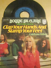 """17a 7"""" vinly record BONNIE ST CLAIRE AND UNIT GLORIA CLAP YOUR HANDS AND STAMP Y"""
