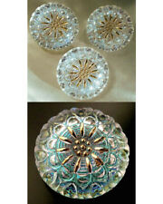 "3 Czech Crystal Glass Buttons #B250 - 27 mm or 1"" - UNIQUE!!!!!!!"