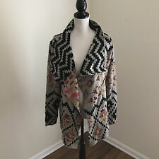 JOHN FASHION Cardigan Sweater AZTEC Anthropologie Boutique Boho NWT Women Sz XL