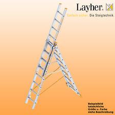 Layher Alu Allzweckleiter 3-teilig Multifunktionsleiter 3x8 Spr., Typ 1040.008