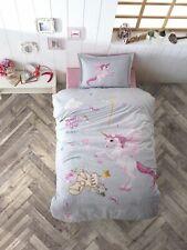Kinder Bettwäsche 135x200 cm, Unicorn, Einhorn 100% Baumwolle